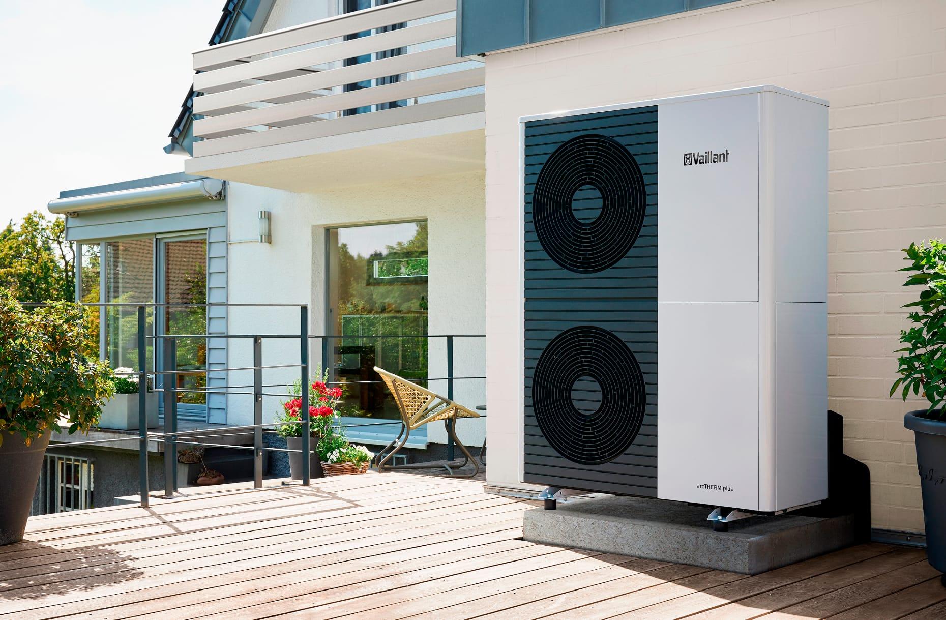 Klimabewusste Modernisierung mit Vaillant Wärmepumpe aroTHERM plus