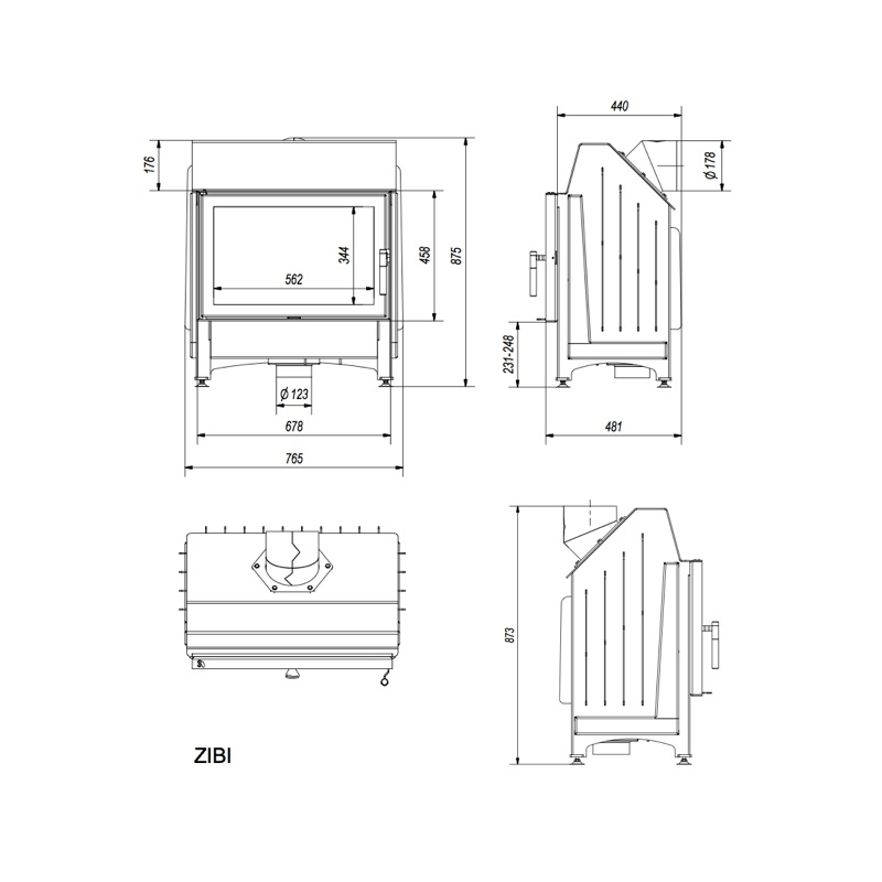 kratki kamineinsatz zibi 11 kw g nstig kaufen. Black Bedroom Furniture Sets. Home Design Ideas