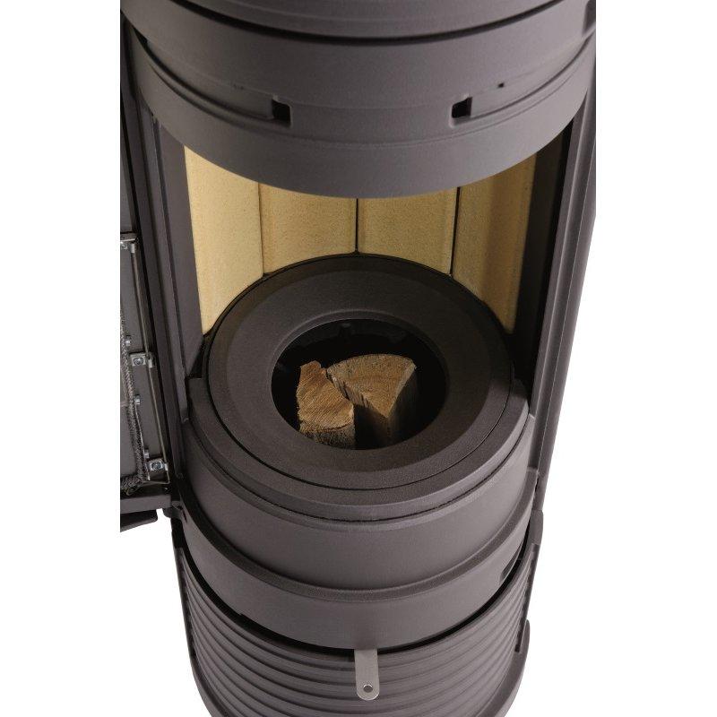 leda guss kaminofen unica schwarz grau 5 kw kamin g nstig kaufen glo24 f r geb udetechnik. Black Bedroom Furniture Sets. Home Design Ideas