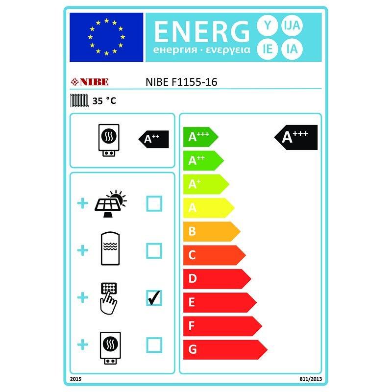NIBE Sole/Wasser Wärmepumpe F1155-16 065260
