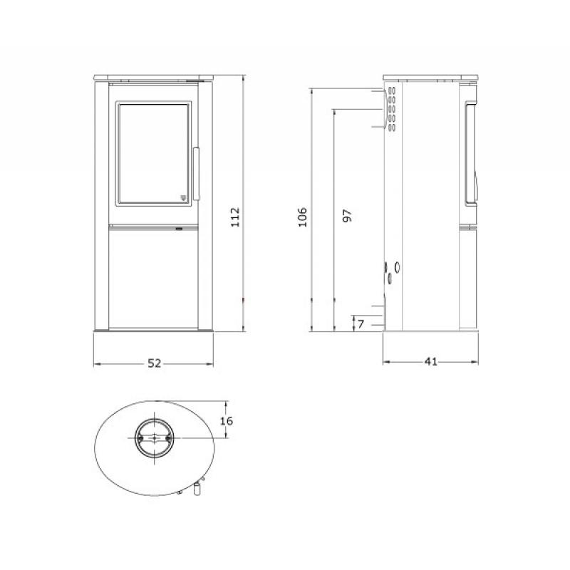 glo24 varde ovne kaminofen varde shape 1 speckstein stahl grau mit topplatte offen 5 kw kamin. Black Bedroom Furniture Sets. Home Design Ideas