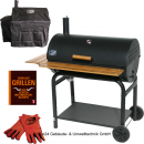 BBQ-Scout Spar Set GRILL´N SMOKE Outlander Classic BBQ-Grill, Modell 7450, Cover, Leder Grillhandschuh und Buch