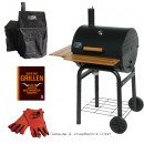 BBQ-Scout Spar Set GRILL´N SMOKE Rookie Classic BBQ-Grill, Modell 7430, Cover, Leder Grillhandschuh und Buch