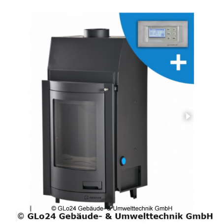 Aquaflam 12 Panorama Automatic Regulation Kamineinsatz wasserführend 12 kW Heizeinsatz