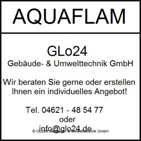 Aquaflam 17 Panorama Manual Regulation Kamineinsatz wasserführend 17 kW Heizeinsatz