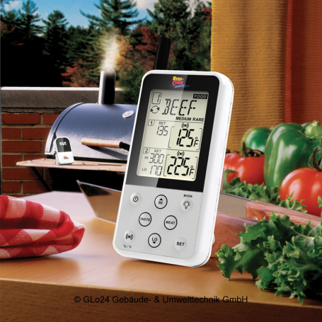 BBQ-Scout MAVERICK ET-733 Barbecue Funk-Thermometer Set, Weiß, Nr. 1181