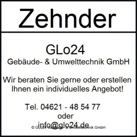 Zehnder Heizwand Plano Completto PH30/52-1900 520x190x1900 RAL 9016 AB V014 ZP160522B1CF000