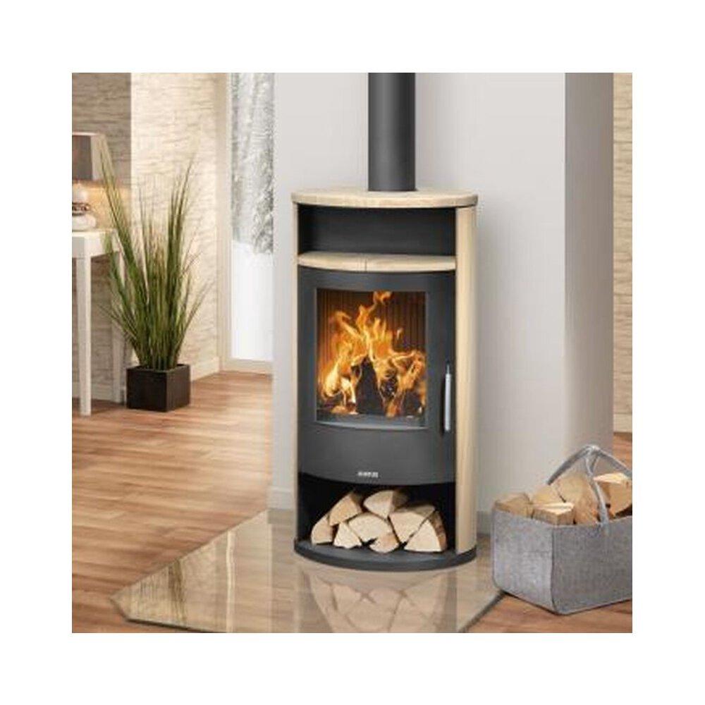 justus kaminofen island 7 stahl schwarz sandstein 6 5 kw 4877 42 g nstig kaufen glo24 f r. Black Bedroom Furniture Sets. Home Design Ideas