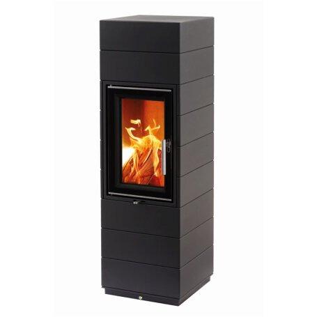 leda kaminofen corna tec schwarz lackiert 1003 01913 glo24. Black Bedroom Furniture Sets. Home Design Ideas
