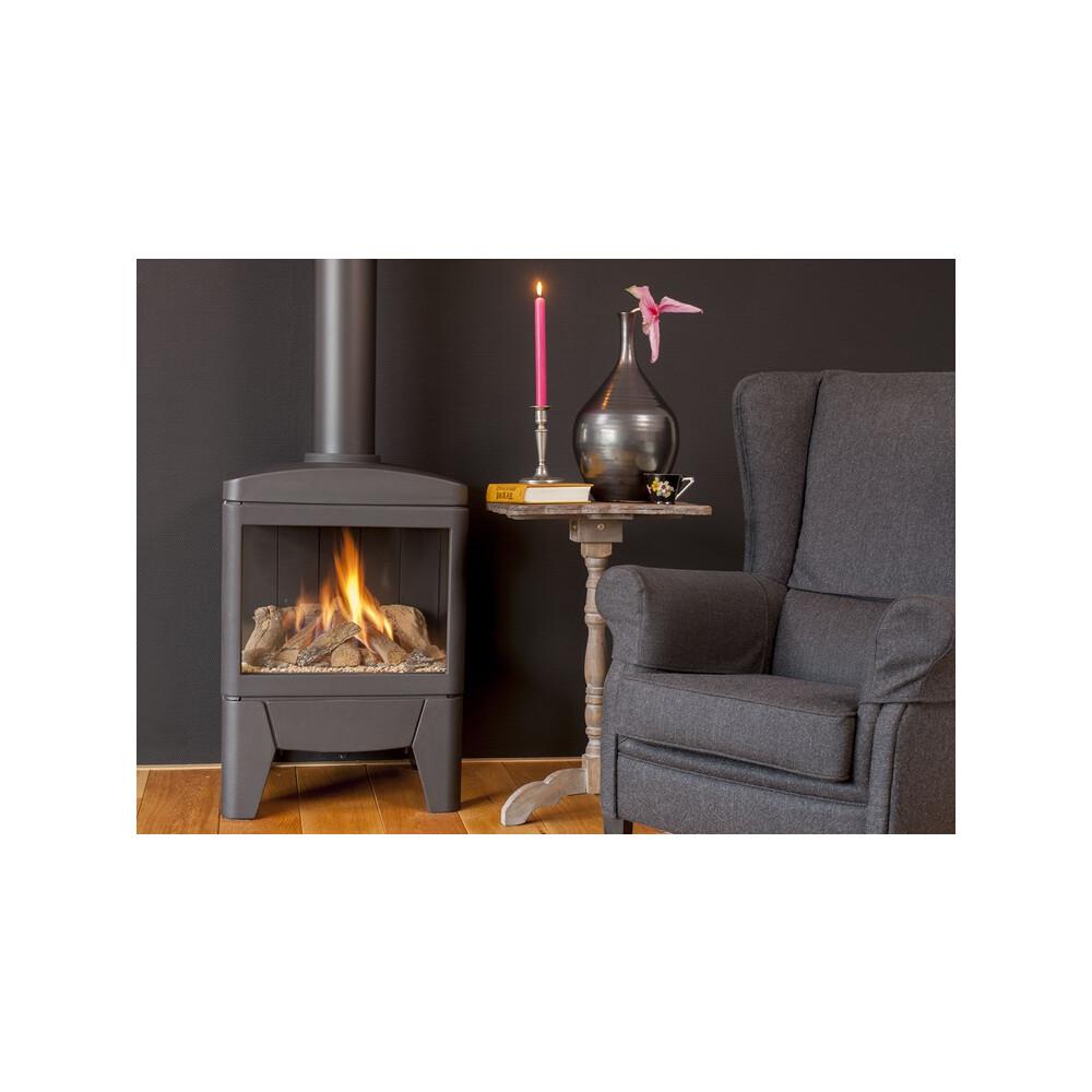 faber gaskamin jelling freistehender kaminofen 3 seitig. Black Bedroom Furniture Sets. Home Design Ideas
