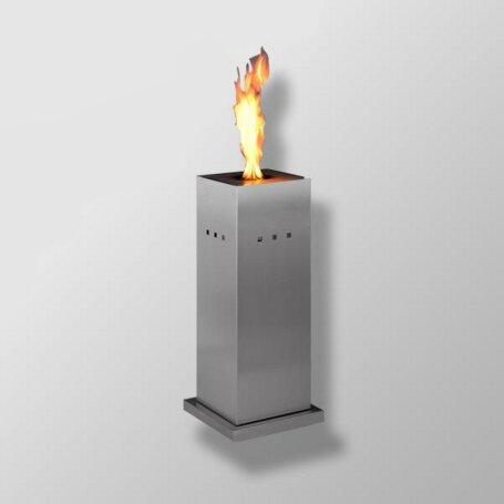 Girse Design Gartenfackel Fuego Medio Edelstahl Gebürstet Propangas Gasfackel